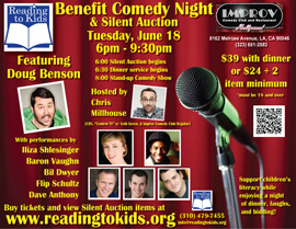 Reading to Kids Comedy Night poster