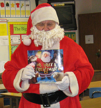 Santa at Alta Loma reading clubs