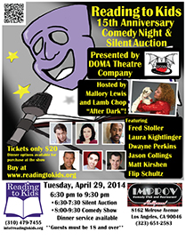Reading to Kids Comedy Night flyer