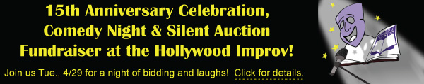 Join us for a night of bidding and laughs at our Comedy Night and Silent Auction at the Hollywood Improv!