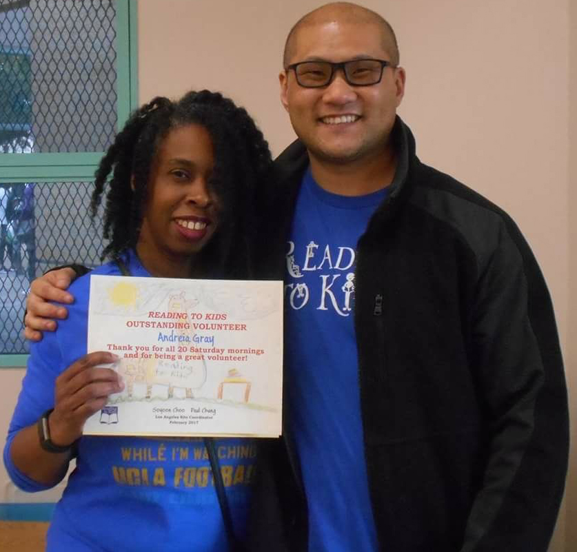 Paul Chung and Andreia Gray at Los Angeles Elementary