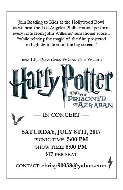 Harry Potter 3 at the Hollywood Bowl flyer