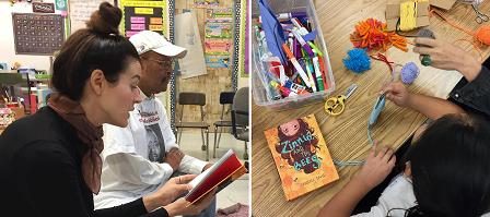 Danielle Davis reading and crafts at Esperanza