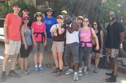 Reading to Kids volunteers hiking in Silver Lake