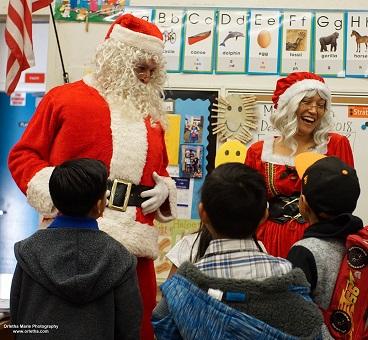 Santa at Alta Loma Elem. reading clubs