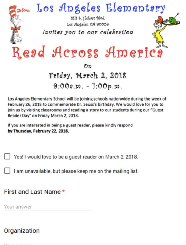 LA Read Across America