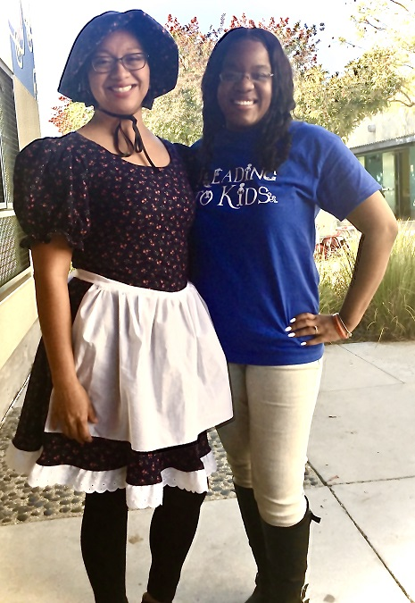 Ms. Chan and Talethe at Alta Loma this morning