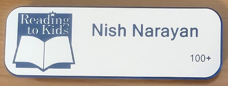 Nish Narayan 100th Name Badge