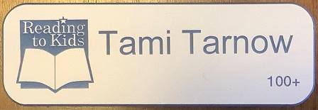 Tami Tarnow 100th Name Badge
