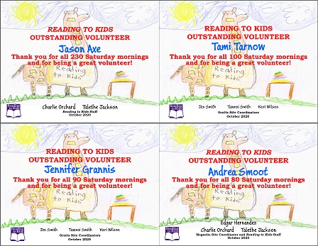 4 October 2020 Milestone Certificates