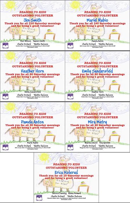 7 November 2020 Milestone Certificates