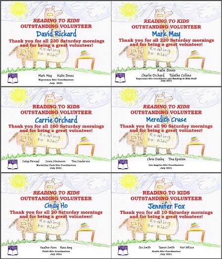 6 July 2021 Milestone Certificates