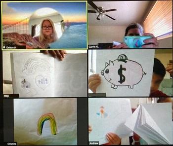 Charles White Elem. Kindergarten/1st/2nd graders' crafts