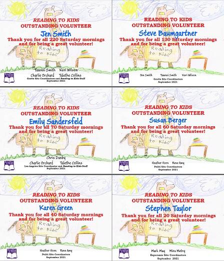 September 2021 Milestone Certificates