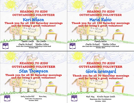 October 2021 Milestone Certificates