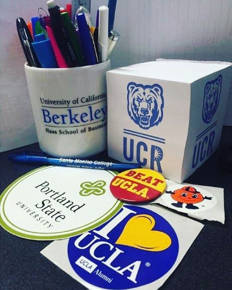 College logo items donated for College Spirit Month
