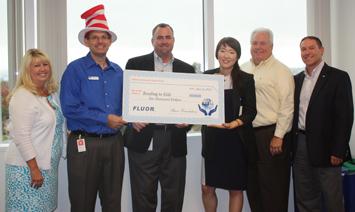 Fluor grant check presentation
