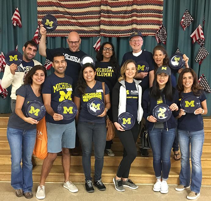 University of Michigan Club - Los Angeles volunteering at Magnolia Elementary
