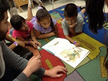Reading to Kids at Politi