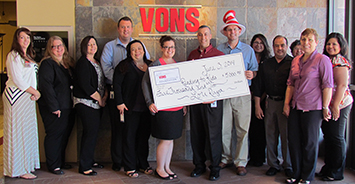 The Vons Foundation grant check presentation