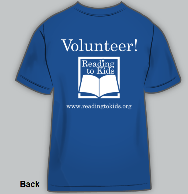 Reading to Kids t-shirt back
