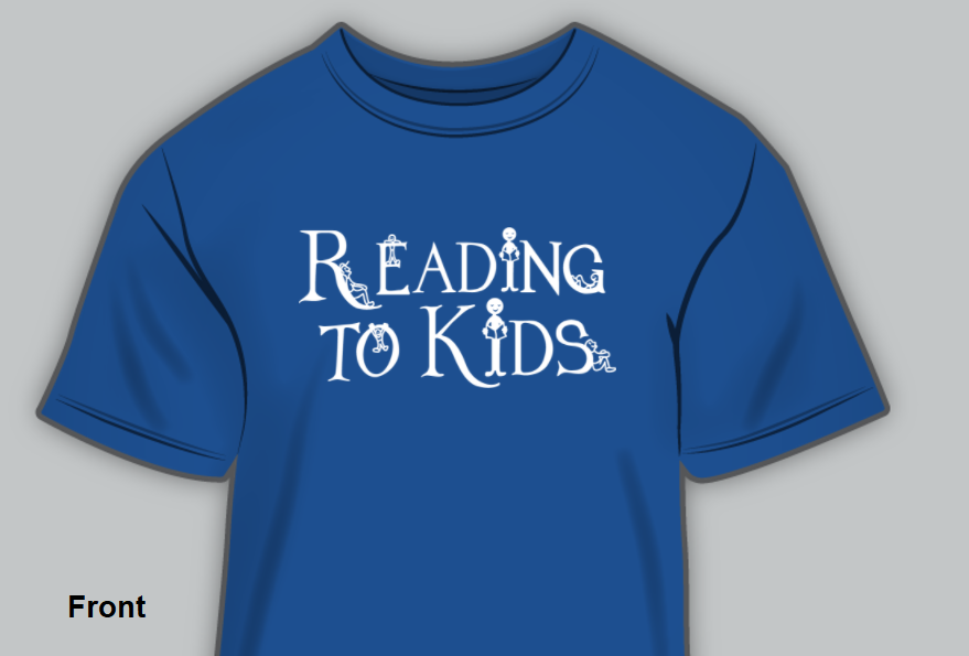 Reading to Kids t-shirt front