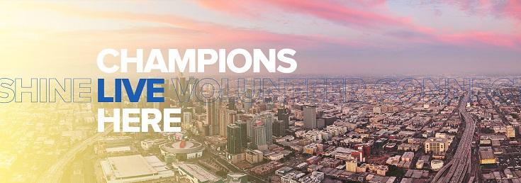 Super Bowl LVI Legacy Program – Champions Live Here logo